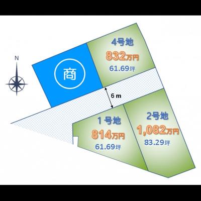 【区画図】宇多津VENTO 1号地