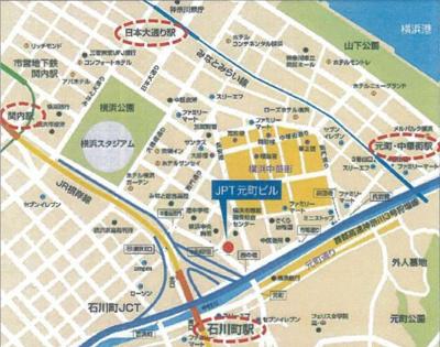 【地図】JPT元町ビル