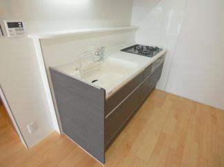 ストークマンション中延 キッチン グリル付3口ガスコンロのシステムキッチン