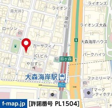 【地図】スカイコート大森