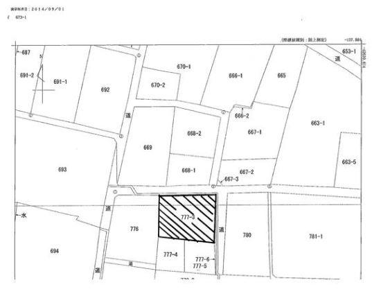 【区画図】[売地]南アルプス市鏡中条(102.32坪)