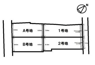 【土地図】守山市播磨田町ミライタウン【4区画】2号地 売土地