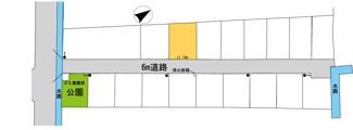 【区画図】守山市播磨田町 売土地