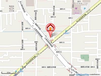【地図】アヴェーク土居田Ⅱ