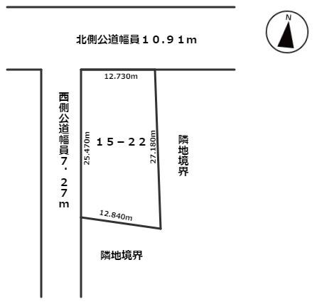 【区画図】網走郡大空町女満別東2条6丁目4番6号 中古売家