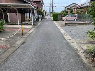 【前面道路含む現地写真】55543 大垣市新長沢町中古戸建て
