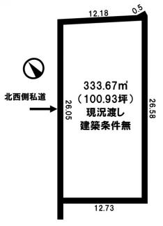 【土地図】網走市台町2丁目 売土地
