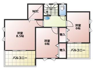 1号棟2階間取り図