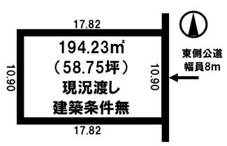 【土地図】とん田東町 売土地