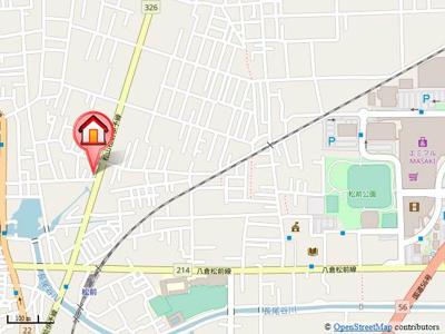 【地図】パークハイツM
