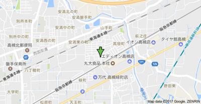 【地図】高垣ハイツ