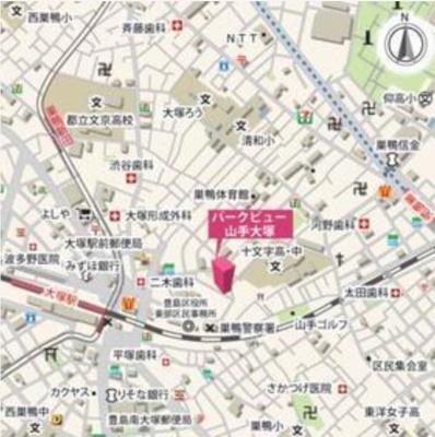 パークビュー山手大塚の地図☆