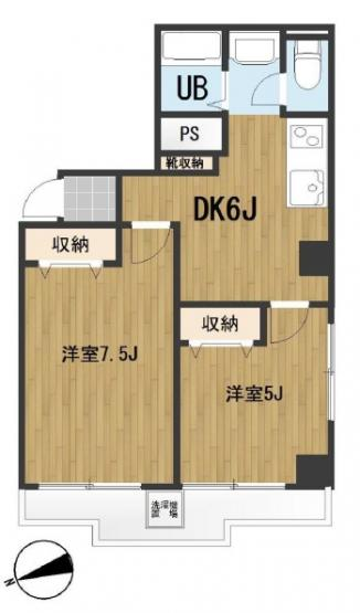 2DK 駅前の商業地域のマンション 駅徒歩1分と魅力的な物件 事務所利用可能
