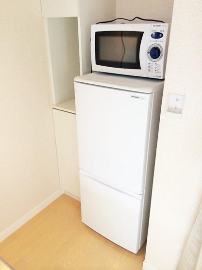 冷蔵庫、電子レンジ付き