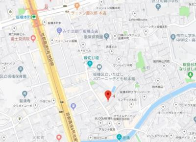 【地図】グランヴァン板橋本町エコ・ヴェルデ