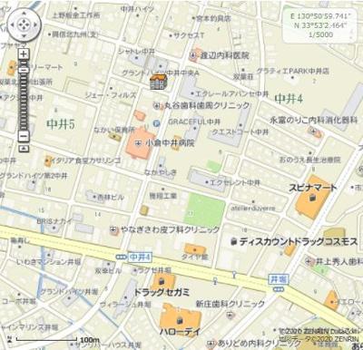 【地図】ボヌール チヒロ