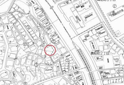 【地図】上田中町1丁目W貸看板