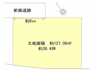 【土地図】栗東市下鈎 売土地