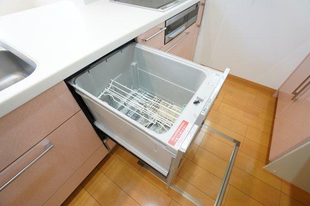 食洗機がついていて嬉しいですね。家事の時短になりますね。