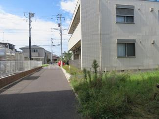 千葉市花見川区幕張町 土地 幕張駅 前面道路が歩道になっております