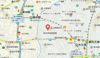 【地図】パイロットハウス北新宿