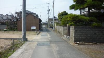 【前面道路含む現地写真】福山市神辺町川北850万円土地