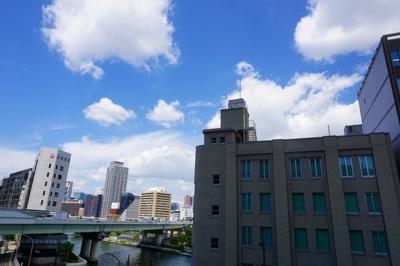 【バルコニー】パークタワー北浜