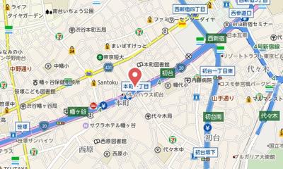 【地図】初台ハイム