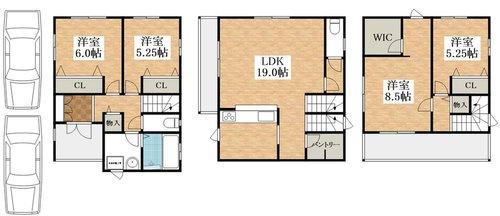 1号地 価格4080万円 土地面積87.53㎡ 建物面積110.53㎡