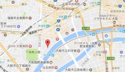 【地図】インペリアル堂島