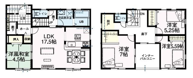 大型SIC、WIC、ホール収納、納戸と収納充実しています。