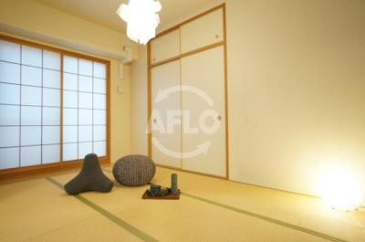 夕陽ヶ丘リバーガーデン 和室は収納も多く使い勝手がとても良いです