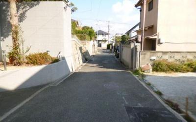 【前面道路含む現地写真】灘区上野通8丁目 土地