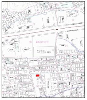 【地図】タウンハウス薊野Ⅱ