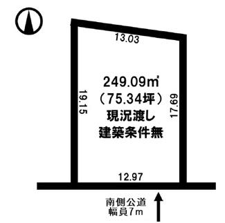 【土地図】訓子府町東町 売土地