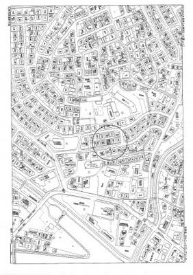 【地図】赤尾町