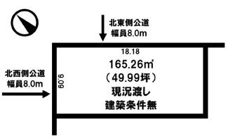 【土地図】美幌町字美芳 売土地