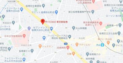 【地図】フェニックス中板橋