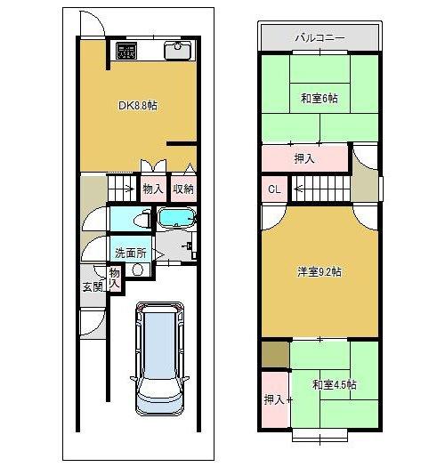 価格1590万円 土地面積56.16㎡ 建物面積78.28㎡
