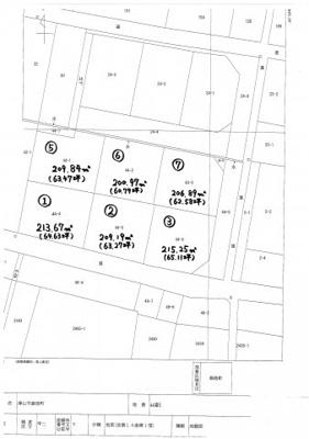 【区画図】鉄砲町分譲地 3号地 65坪
