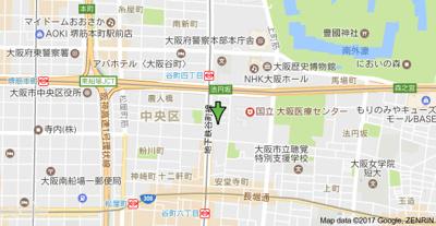 【地図】クリスタルブライト谷町