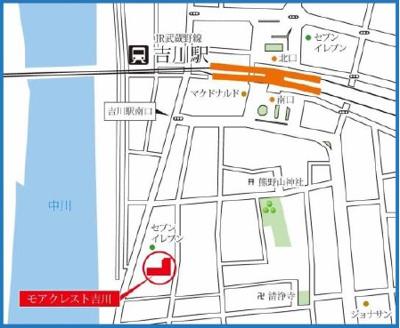 案内図:吉川新築ナビで検索