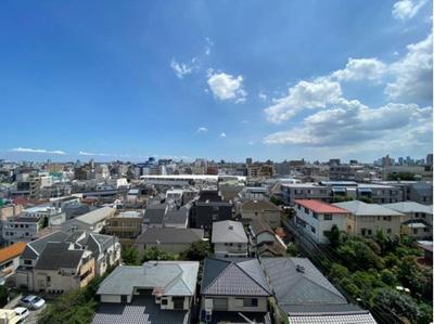 8階部分のお部屋からは、街並みを一望できます。