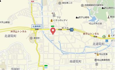 【地図】グリーンハイツ北斎院