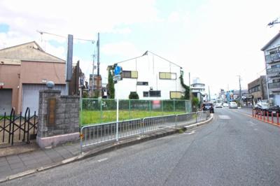 【前面道路含む現地写真】伏見区向島本丸町 注文建築 建築条件なし 土地