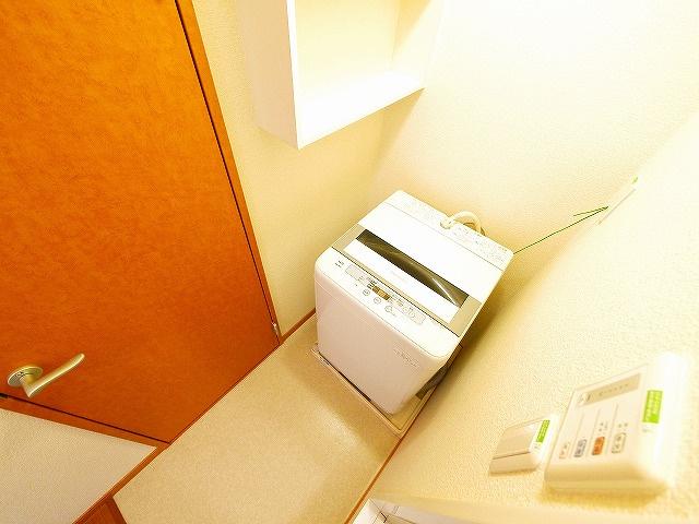室内洗濯機置き場があります