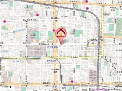 【地図】ビクトワール西大路御池