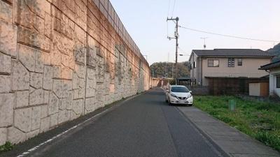 【前面道路含む現地写真】御幸町森脇700万円土地