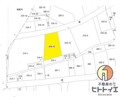 【地図】八女市馬場字唐人町北裏 売地