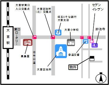 【地図】東町1丁目貸テナント